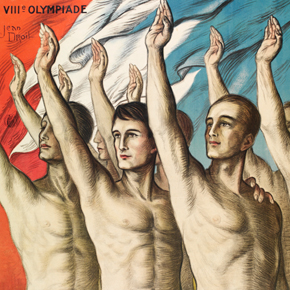 Official poster for Paris Olympic Games, 1924 Jean Droit