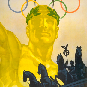 Four Horses Olympic Poster