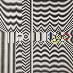 'Official poster for Mexico City Olympic Games, 1968'