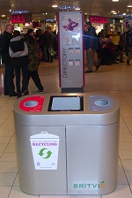 photo of Britvic recycling on the go facilities