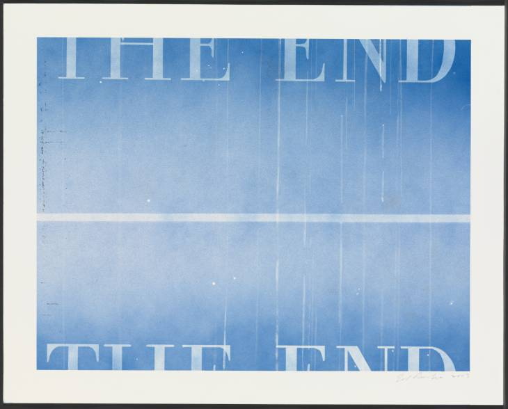 Edward Ruscha, 'THE END #40' 2003