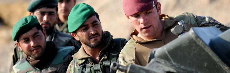 British soldier training Afghan forces; Defence images