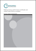 Making energy performance certificate and related data publicly available: Impact assessment