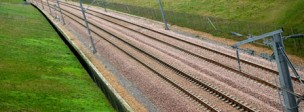 High speed rail track and tunnel