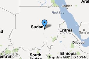 map of Khartoum, Sudan