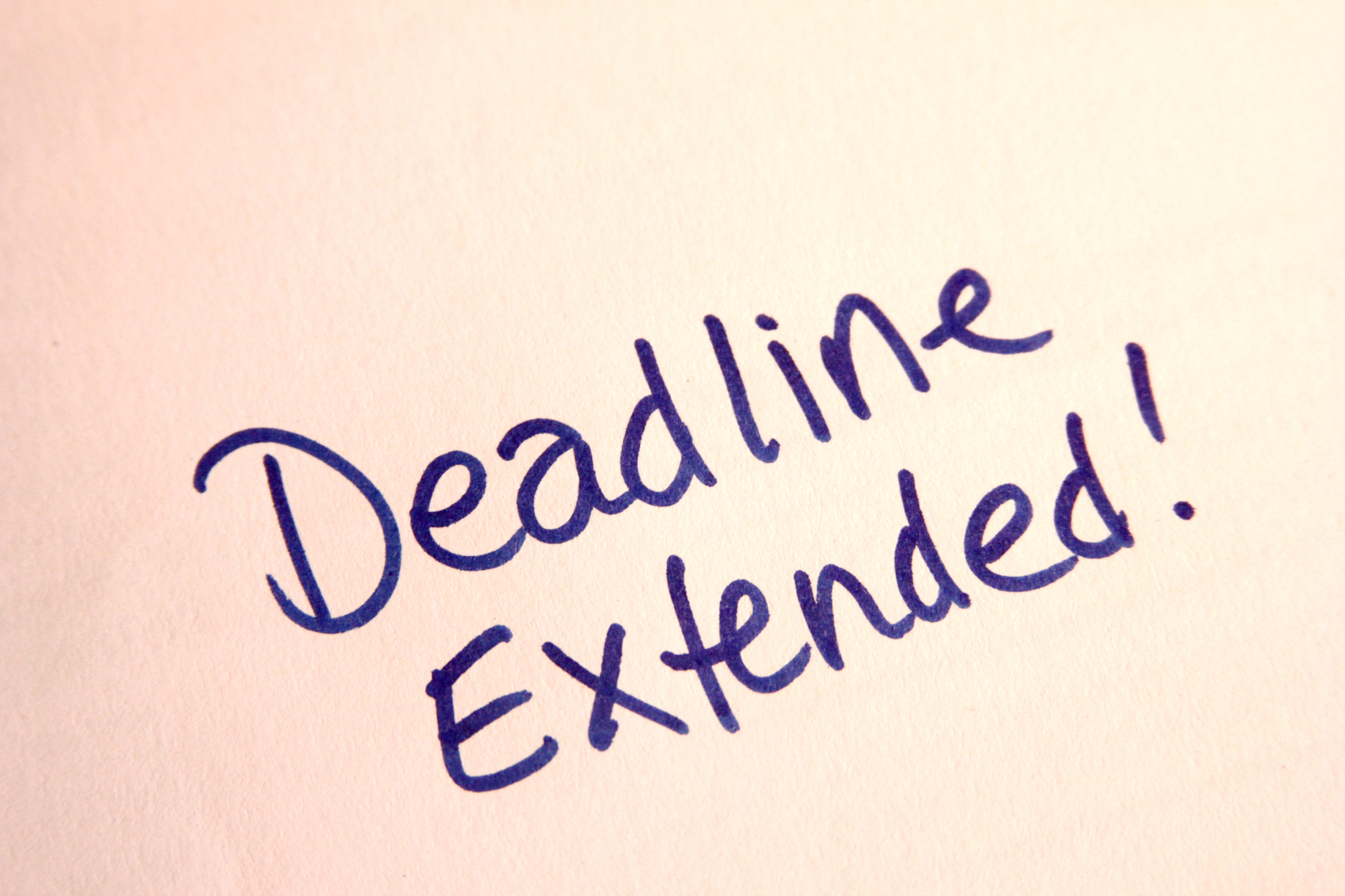 Tender submission date extended