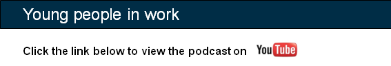 Image telling users to click below to view podcast on YouTube