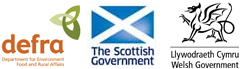 Logo images for Defra, The Scottish Government and The Welsh Assembly Government