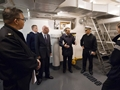 Senior American officer Rear Admiral Mark Buzby pays a visit to HMS Collingwood's Maritime Warfare School