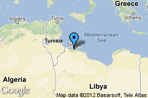 map of Tripoli, Libya