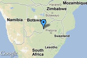 map of Gaborone, Botswana
