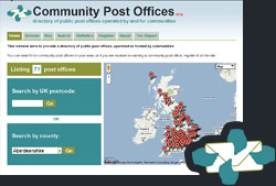 An image of the Community Post Offices homepage