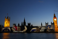 London 2012 - Projection on the Houses of Parliament