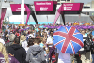Fans outside the London 2012 Olympic Stadium
