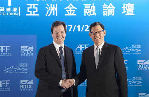 The Chancellor meets Chief Executive of the Hong Kong Monetary Authority Norman Chan. Copyright. All rights reserved.
