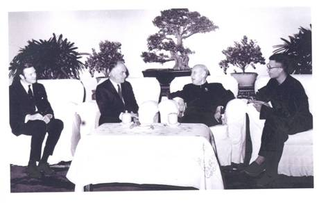 Sir John Mansfield Addis, first British Ambassador to China and His Excellency Dong Biwu, Acting Chairman of the People's Republic of China, 13 March 1972.