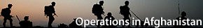 Operations in Afghanistan logo