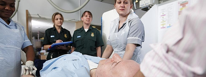 A&E patient stretcher