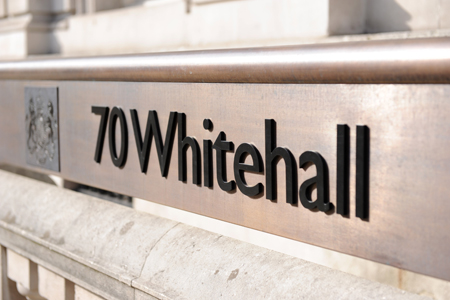 70 Whitehall sign; Crown copyright