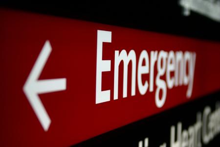 emergency sign; copyright