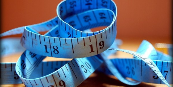blue measuring tape