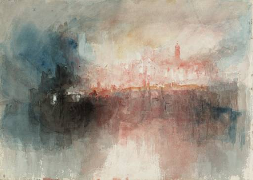 Joseph Mallord William Turner, 'Colour Study: The Burning of the Houses of Parliament' 1834