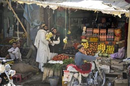 Market stall in Afghanistan