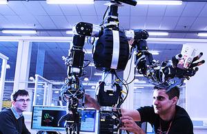Researchers at Bristol Robotics Laboratory working on advanced robotics