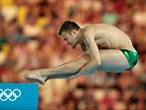Sascha Klein of Germany competes in the men's 10m Platform Diving semi-final