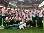 Mexico poses with gold medals