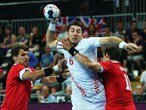 Croatia take on Hungary in the Handball bronze medal match
