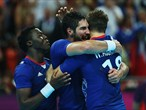 France celebrate their victory over Croatia
