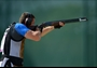 Giovanni Cernogoraz of Croatia competes in the men's Trap Shooting Final
