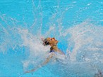 Australia competes in the Women's Teams Synchronised Swimming Free Routine final