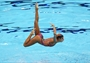 Egypt competes in the Women's Teams Synchronised Swimming Free Routine final