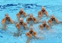 Spain competes in the Women's Teams Synchronised Swimming Free Routine final