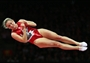Rosannagh MacLennan of Canada on her way to victory in the Trampoline