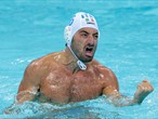 Maurizio Felugo of Italy celebrates during Men's Water Polo semi-final