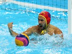 Day 8: action from the preliminary rounds of the men's Water Polo