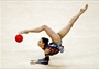 Competing with the ball in Rhythmic Gymnastics