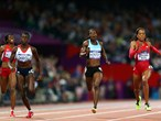 Sanya Richards-Ross of the United States wins gold