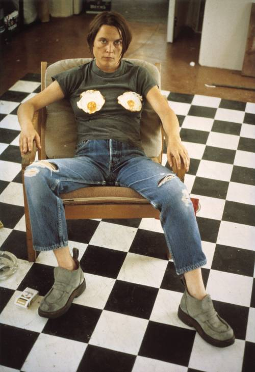 Sarah Lucas, 'Self Portrait with Fried Eggs' 1996