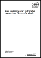 Good practice in primary mathematics: evidence from 20 successful schools