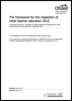 The framework for the inspection of initial teacher education 2012