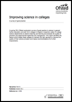 Improving science in colleges - A survey of good practice