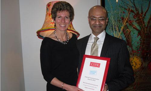 Catherine Morris & Krishan Lathigra at CIPR Awards