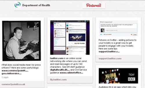 Department of Health - social media toolkit for press officers on Pinterest