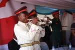 Trumpeters from the BDF play The Last Post