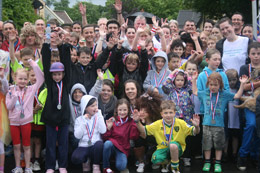 A crowd with medals in Hethersett