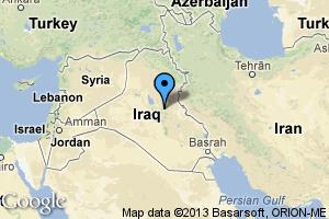 map of Baghdad, Iraq
